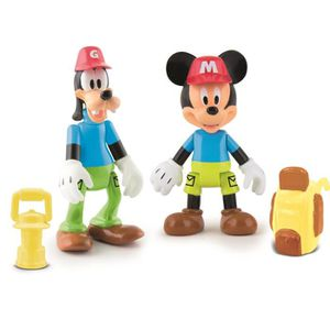MICKEY Pack De 2 Figurines Mickey & Dingo A L'Aventure