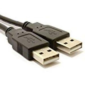 USB 2,0 A Vers A M/âle Vers M/âle Haute Vitesse Noir c/âble 0,5 m 50 cm
