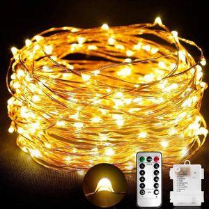 GUIRLANDE LUMINEUSE INT Guirlande Lumineuse chambre 100 Micro LED  Pile Fi
