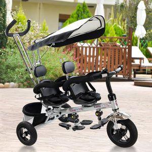 TRICYCLE Tricycle pour Jumeaux Enfant/Bébé Evolutif Double