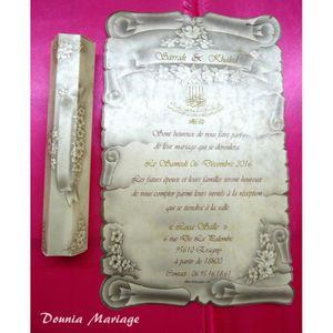 FAIRE-PART - INVITATION Faire Part mariage parchemin avec impression offer