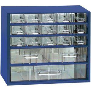 BOITE A COMPARTIMENT Armoire d'atelier 18 tiroirs bleu 306 x 155 x 2…