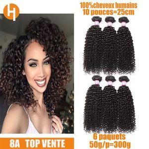 PERRUQUE - POSTICHE 6 tissage bresilien bouclé cheveux vierges humains
