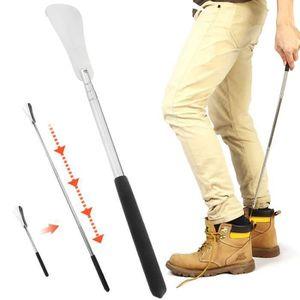 avec crochet extra-long 31,5 inch Chausse-pieds en m/étal durable avec long manche en acier inoxydable