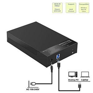 BOITIER POUR COMPOSANT 3,5'' Boîtier externe pour disque dur USB 3.0 SSD-