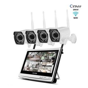 CAMÉRA DE SURVEILLANCE 4Ch 12inch LCD écran NVR kit Caméra de surveillanc