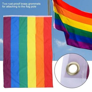 Drapeau Arc-en-ciel 90*150CM gay pride paix LGBT Polyester Drapeau Transgender Bannière sa