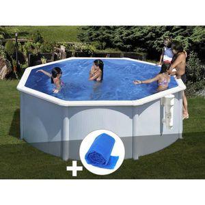 PISCINE Kit piscine acier blanc Gré Bora Bora ronde 3,20 x