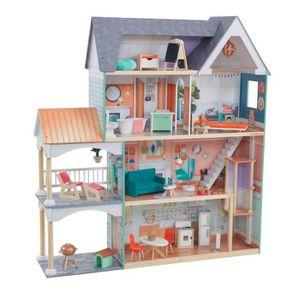 MAISON POUPÉE KidKraft - Maison de poupées en bois Dahlia - 6598