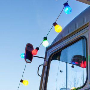 GUIRLANDE D'EXTÉRIEUR Guirlande Lumineuse 30 Globes LED Multicolores Int