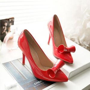 ESCARPIN Femmes Mode Toe bowknot Pointu Hight Escarpins