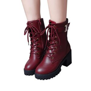 BOTTE Libaib Chaussures mode femme cheville Wedges Moyen