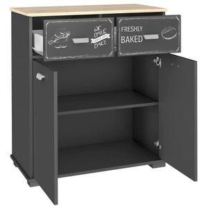 ELEMENTS BAS Commode de cuisine avec 2 portes et 2 tiroirs, col