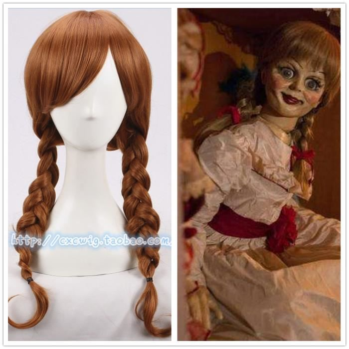 Annabelle Perruque Halloween Cosplay Accessoires