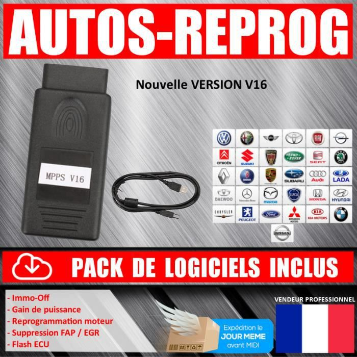 ★ EXCLUSIVITE ★ Interface MPPS V16 PROFESSIONNEL - Reprogrammation Flash / Chip by Mister Diagnostic®