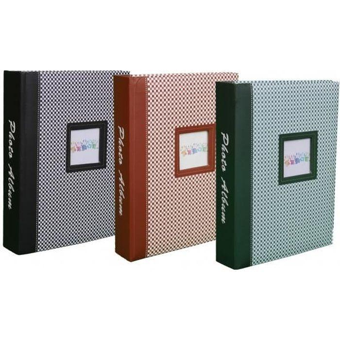 Lot de 3 Albums photo à pochettes -Elements- pour 200 photos 10x15 - Noir, Brun et Vert