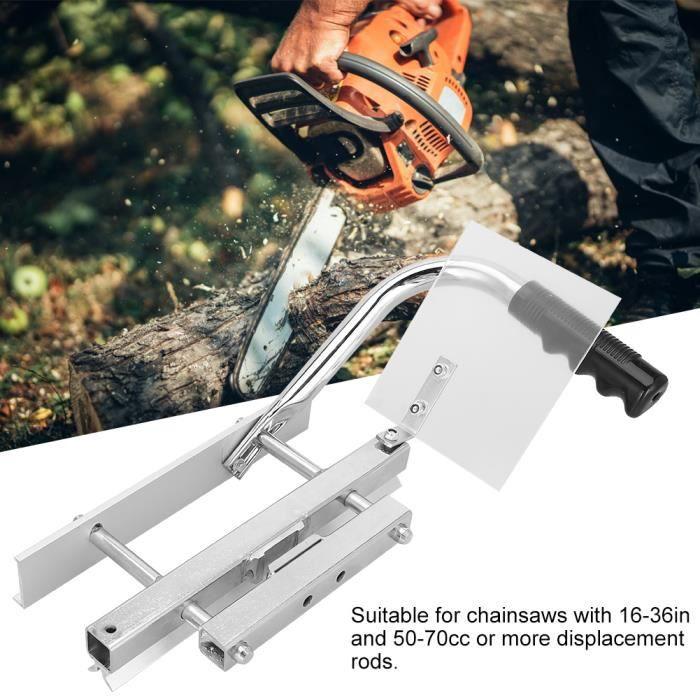 DUOKON Cadre Portable de Moulin à Tronçonneuse en Alliage d'Aluminium Accessoire de Barre de Fraisage Outil de Coupe de Bois-TIP