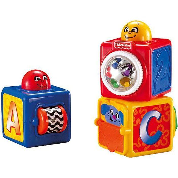 Fisher Price - 3 Cubes d'Eveil Activités