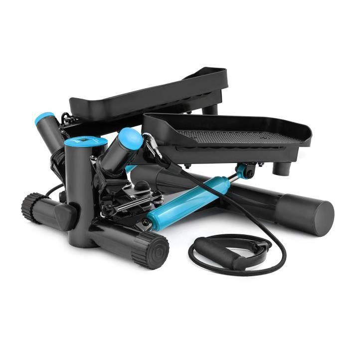 HS Hop-Sport Joy HS-035S Stepper rotatif à résistance ajustable avec sangles d'exercice Bleu