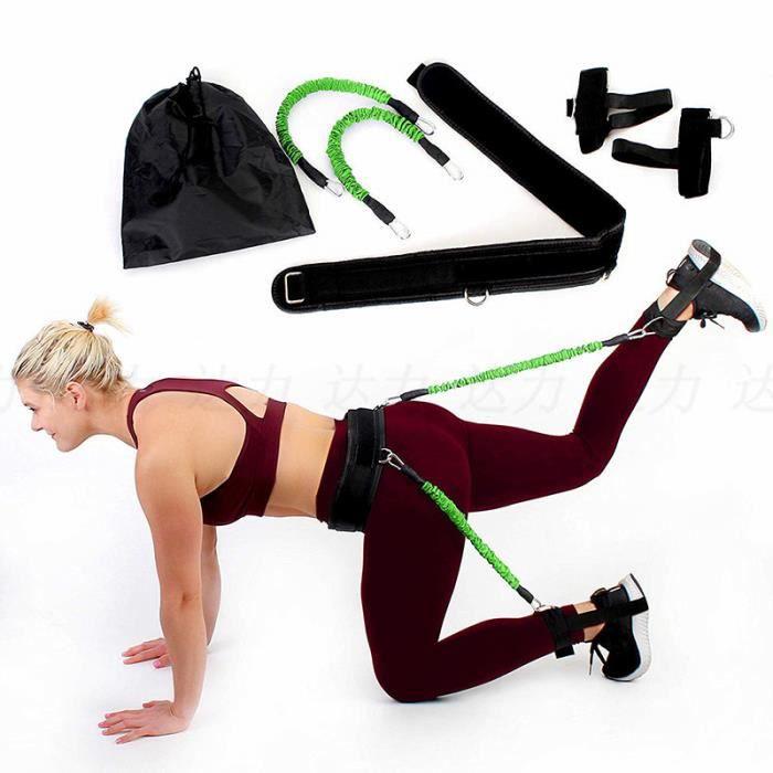 Elastique de Resistance Musculation Fitness Exercice des Jambes 35 Livres Vert