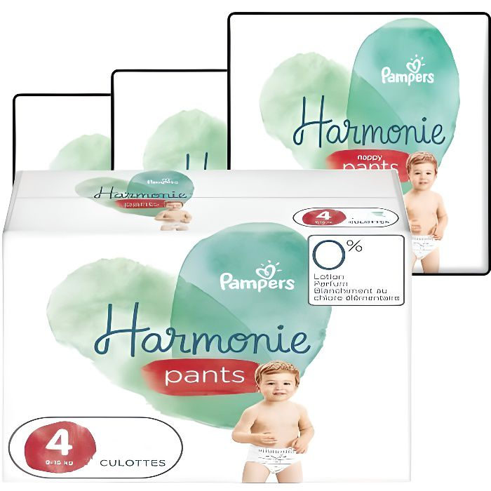 174 Couches Pampers Harmonie Pants taille 4