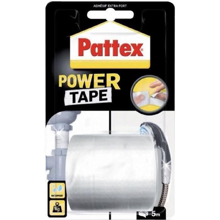 Adhésif super puissant Power tape Pattex Blanc L5m