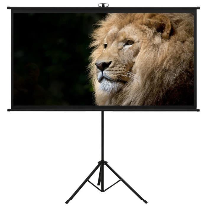 Écran de projection avec trépied 120- 16:9-DIN