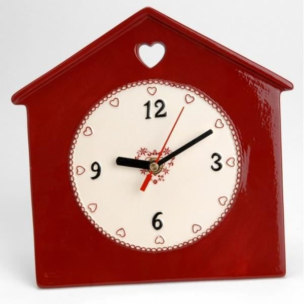 horloge murale d co rouge achat vente horloge cdiscount. Black Bedroom Furniture Sets. Home Design Ideas
