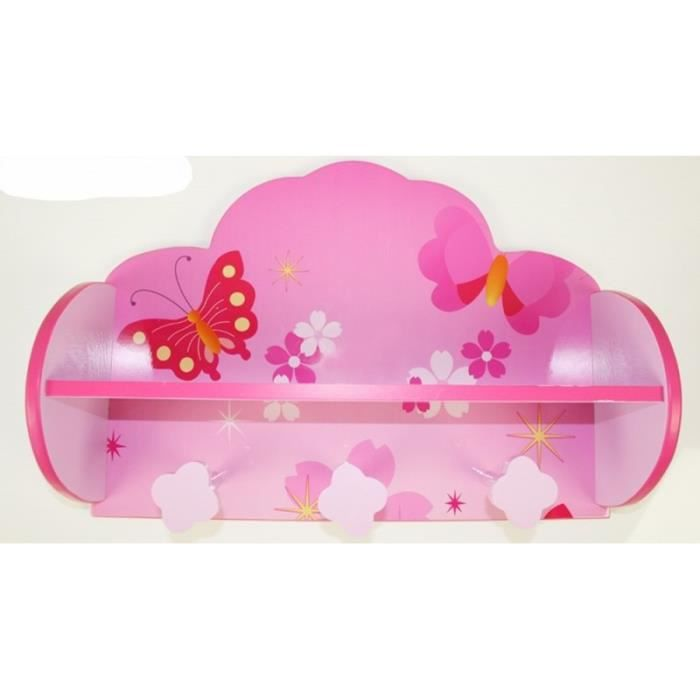 Interesting Porte Manteau Tagre Pour Enfant Motif Papillon With Patere Chambre  Fille