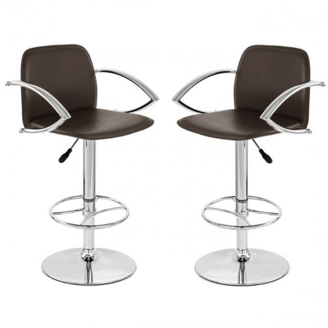 tabouret de bar marron x 2 casino achat vente tabouret. Black Bedroom Furniture Sets. Home Design Ideas