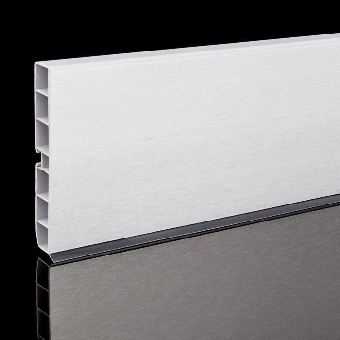 Pvc Cuisine Kickboard Plinthe 100mm 1500mm Couleur Aluminium