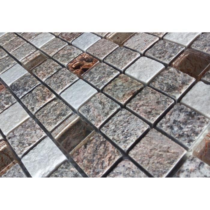 CARRELAGE - PAREMENT Listel en pate de verre et carrelage Ures - 5 x 30