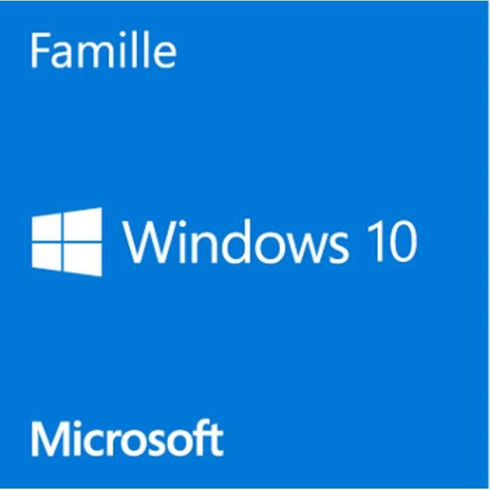 SYSTÈME D'EXPLOITATION Windows 10 Home Dvd 64 bits