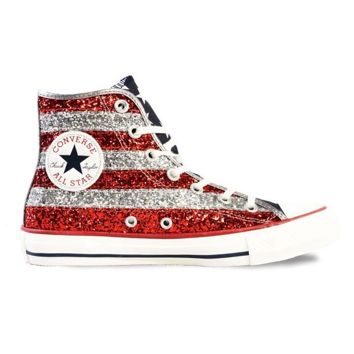 cdiscount converse femme rouge