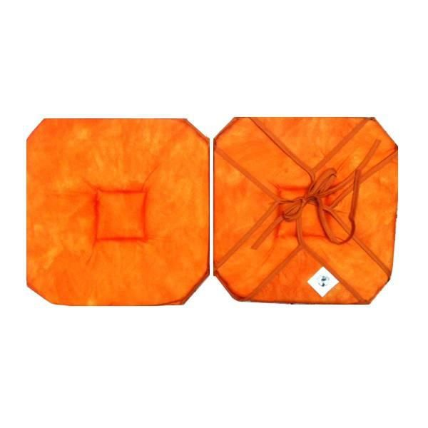 coussin de chaise 4 rabats uni orange abricot b achat vente coussin de chaise cdiscount. Black Bedroom Furniture Sets. Home Design Ideas