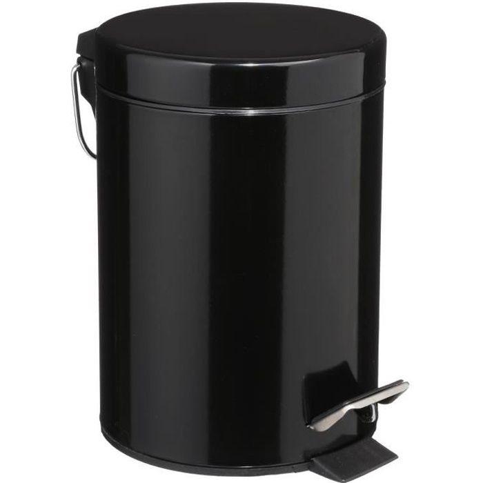 Poubelle cosm/étique /Ø14 x 38 cm porte-balai de toilette absolument incassable 2 l Blanc /& Brosse WC Basic Blanc WENKO Poubelle /à couvercle oscillant Brasil S blanc 14 x 21 x 14 cm