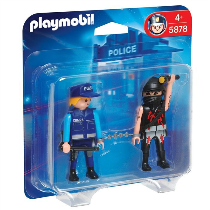 playmobil duo policier et voleur achat vente univers miniature cdiscount. Black Bedroom Furniture Sets. Home Design Ideas