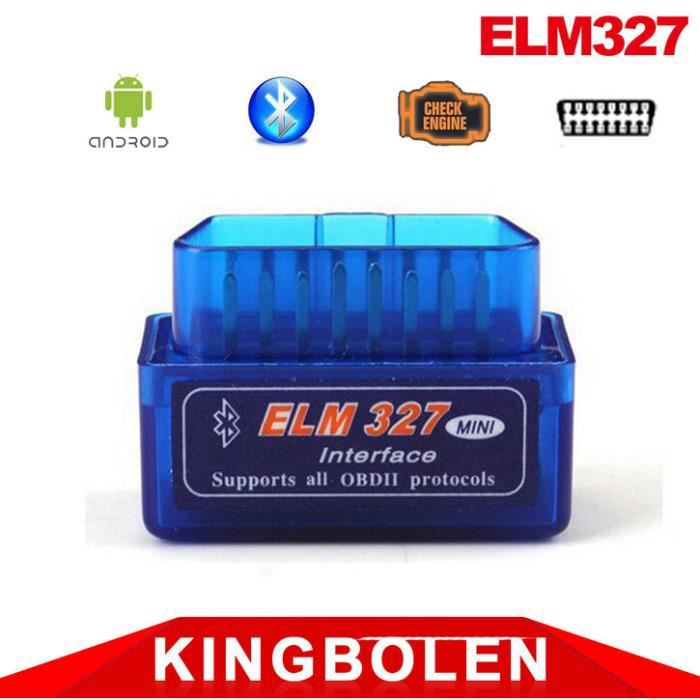 elm327 v2 1 obd2 ii la voiture de scanner diagnostic auto interface bluetooth achat vente. Black Bedroom Furniture Sets. Home Design Ideas