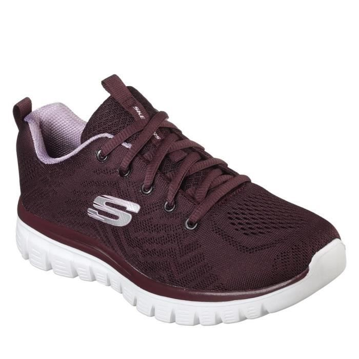 Basket Graceful Femme GetConne Burdeos Skechers sQhrCtxd