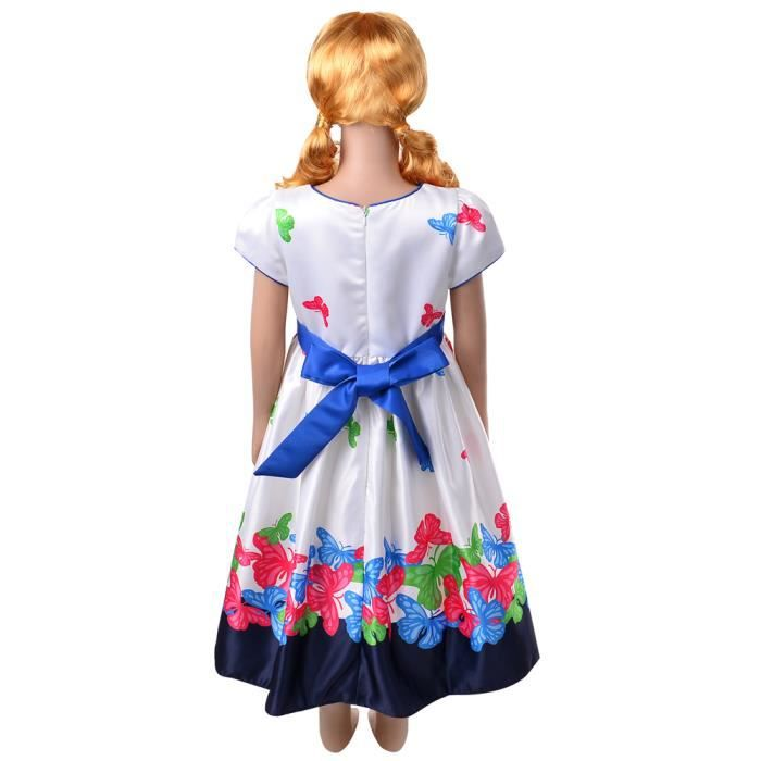 okidso Princess Dress Flower Girl Dresses Princess Skirt with Bowknots for Parties, Causal(110cm)