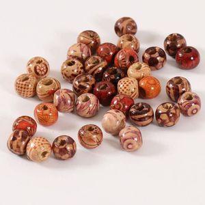 Pcs Art Hobby À faire soi-même Fabrication De Bijoux Artisanat Wood Cube Perles 10 mm Mélange 50