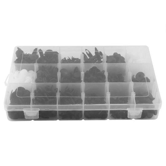 415pcs Clips Agrafes Plastiques Voiture Kit Rivets Pinces Fixation Cache Mote...