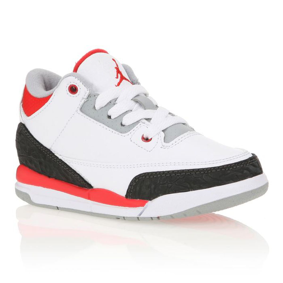 nike jordan baskets 3 retro enfant blanc blanc achat vente basket cdiscount. Black Bedroom Furniture Sets. Home Design Ideas