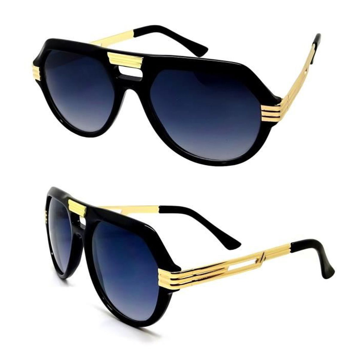 1088eccb20630 LUNETTES SOLEIL HOMME FEMME STREETWEAR LUXE PILOTE AVIATOR GOLD OR ...