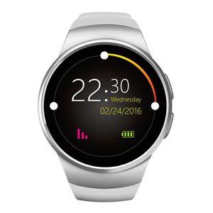 Montre connectée sport Sport blanc Bluetooth Montre Connectée Intelligent