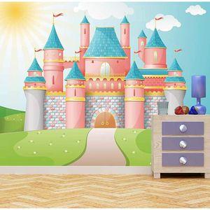PAPIER PEINT princesse castle papier peint  papier peint enfant