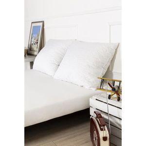 OREILLER lot 2 oreiller mémoire de forme grand confort tiss