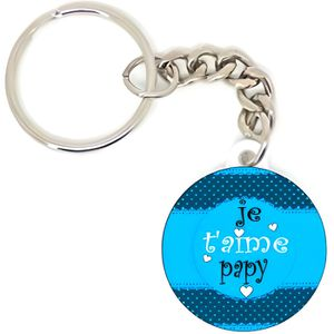 PORTE-CLÉS Porte clé badge je t'aime papy idée cadeaux person