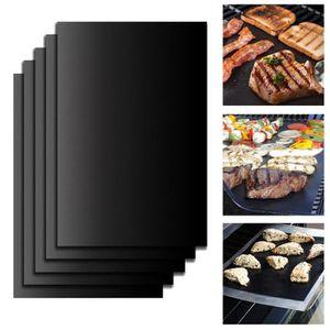 2pc BBQ Grill Mesh Mat réutilisable PTFE résistant anti-bâton viande