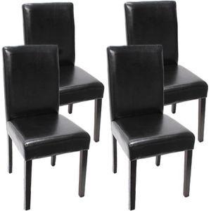 CHAISE Lot de 4 chaises de séjour Littau, cuir reconstitu